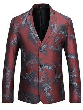 Ericdress Quality Lapel Vogue Print Men's Blazer