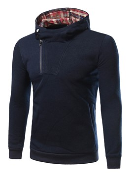 Ericdress Hooded Slim Pullover Men's Hoodie