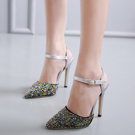 Ericdress Candy Color Closed Toe Stiletto Sandals