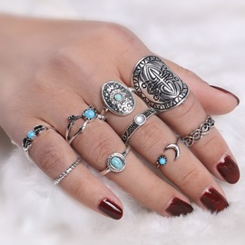 Ericdress Turquoise 9-Piece Women's Ring