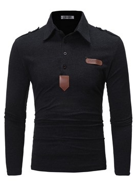 Ericdress Lapel Pullover Color Block Men's Polo