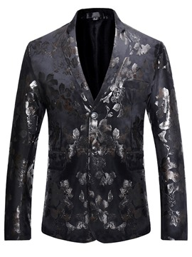 Ericdress Quality Print Lapel Slim Men's Blazer
