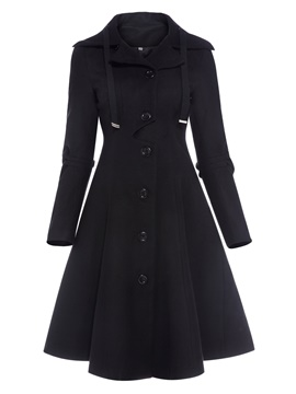 Ericdress Elegant Single-Breasted Classic Coat