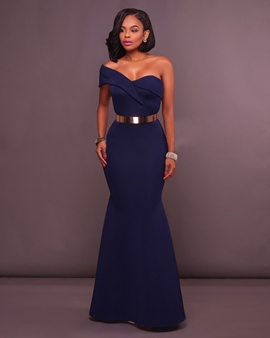 Ericdress One-Shoulder Split-Front Mermaid Evening Dress