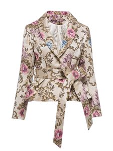 Ericdress Shawl Collar Flower Print Jacket