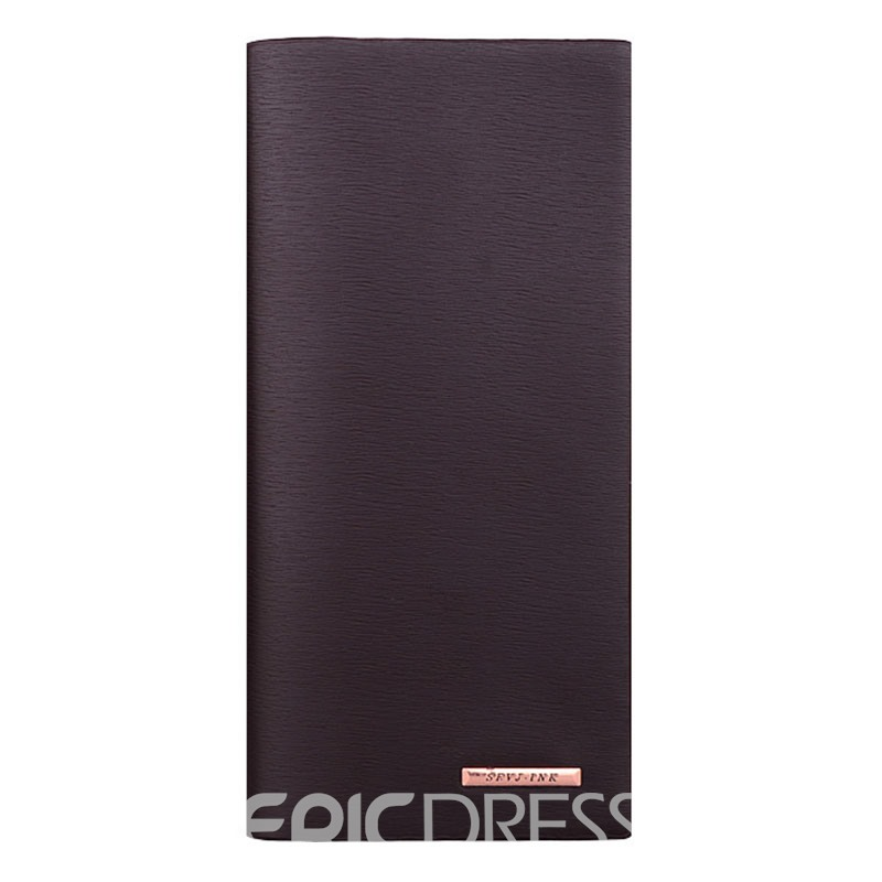 Ericdress Concise Ultrathin Long Type Men's Wallet
