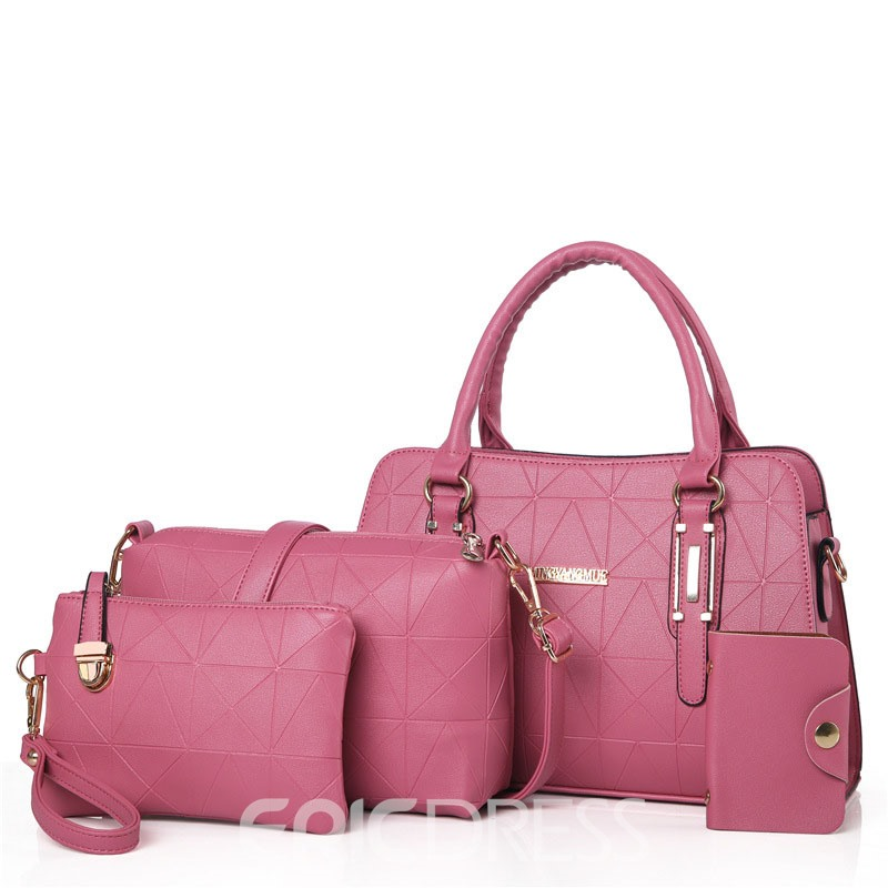 Ericdress All Match Concise Solid Color Handbag