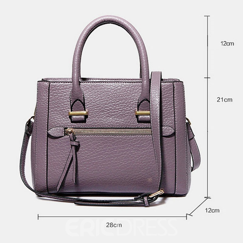 Ericdress Ladylike Solid Color Thread Women Handbag