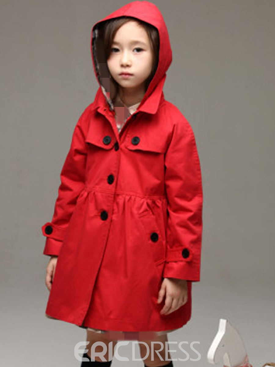 Ericdress Windproof Long Sleeve With Detachable Hoodie Girls Outerwear