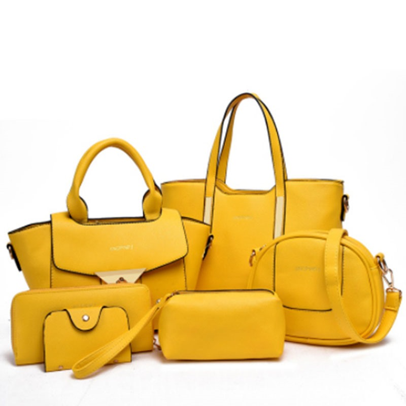 Ericdress Occident Style Solid Color Six Bags Set