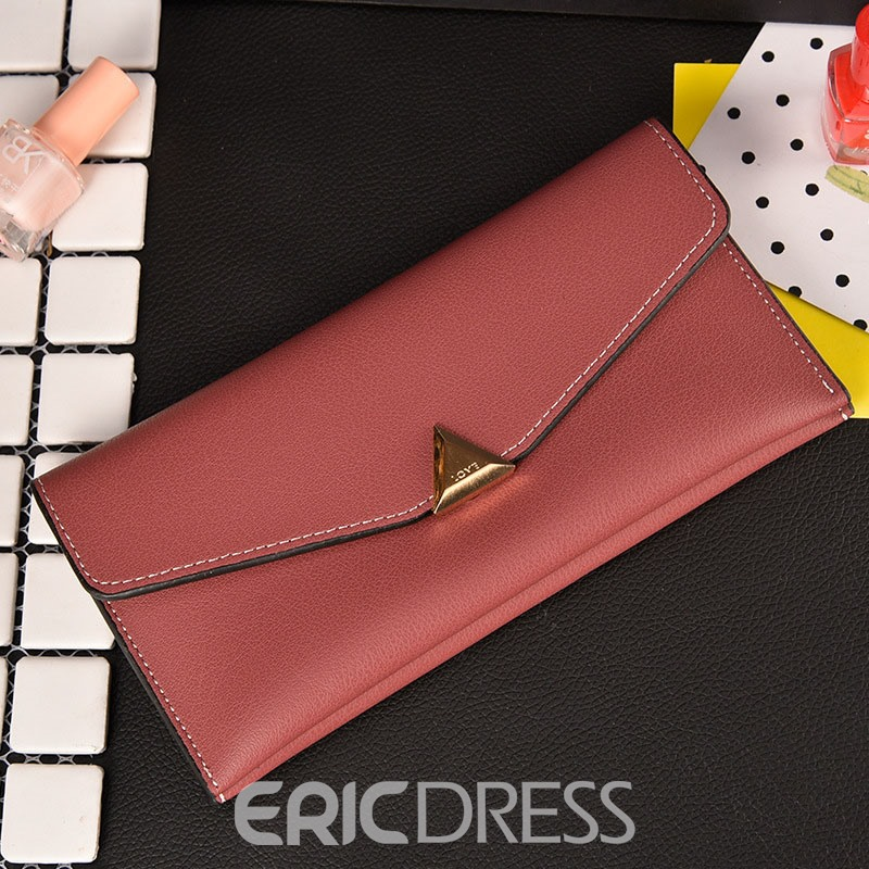 Ericdress Simplicity Long Type Soft PU Wallet