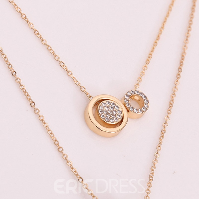 Accshine Trendy Double Layer Women's Pendant Necklace