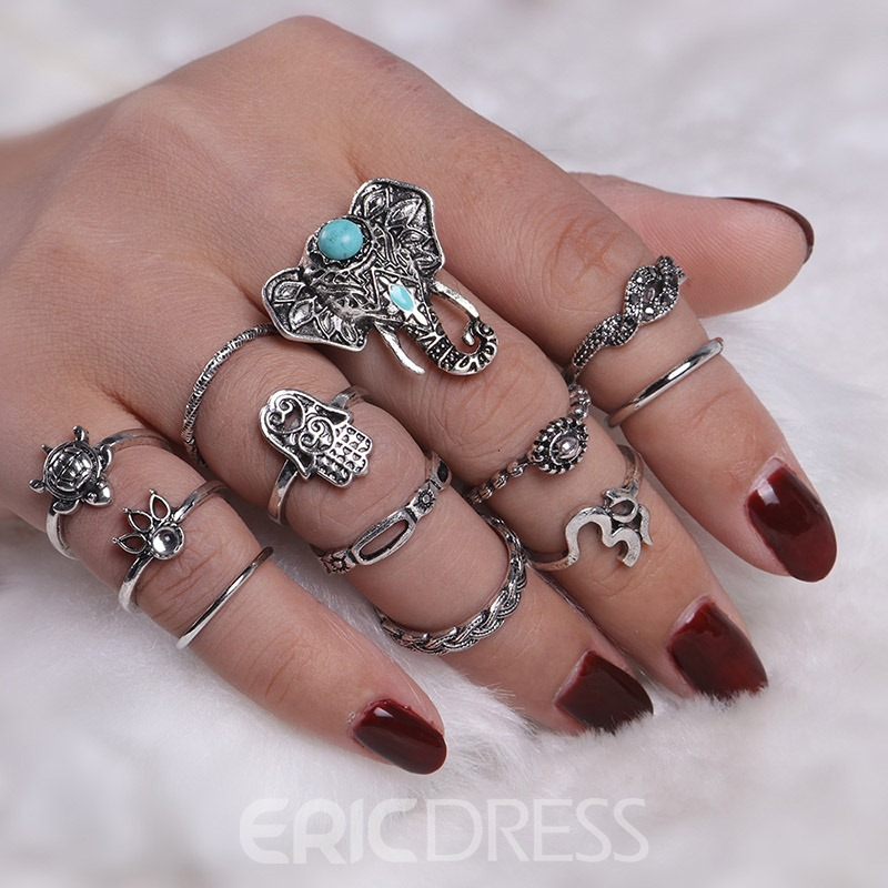 Ericdress Elegant Pattern Personal Ring for Women