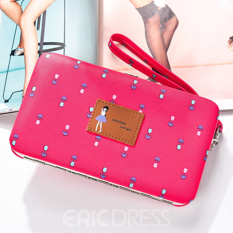 Ericdress Multifunctional Long Type Floral Print Wallet
