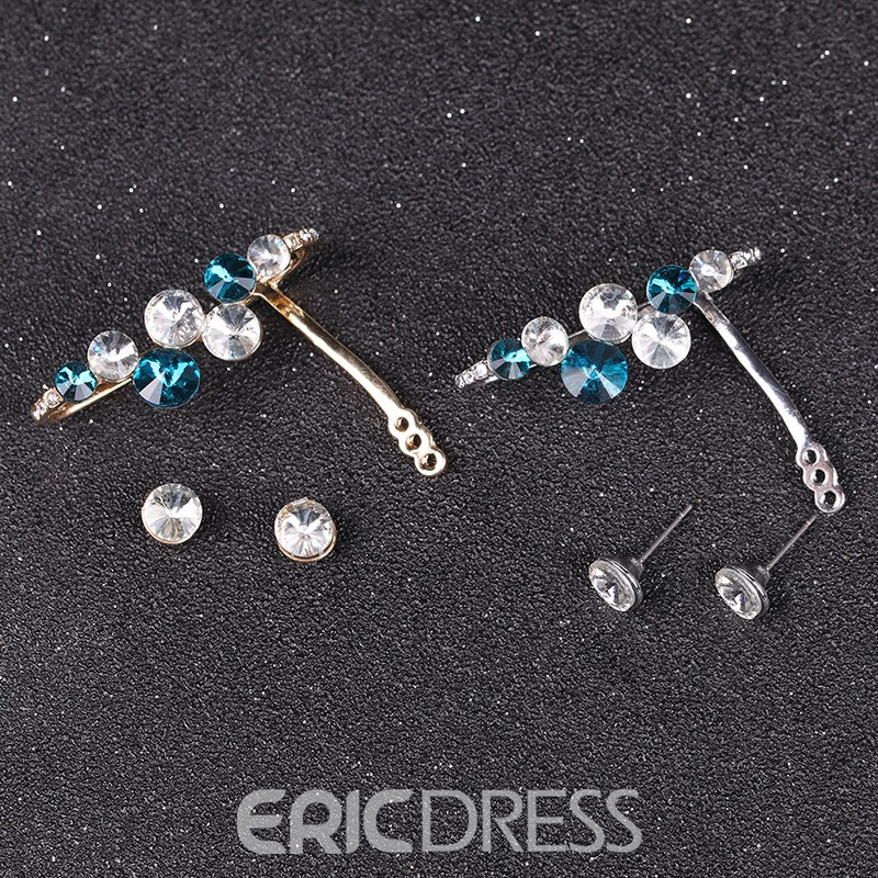 Ericdress Stunning Bicolor Diamante Ear Cuff for Women