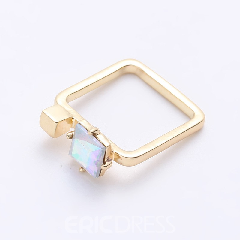 Accshine Chic Square Colorful Rhinestone Women's Ring
