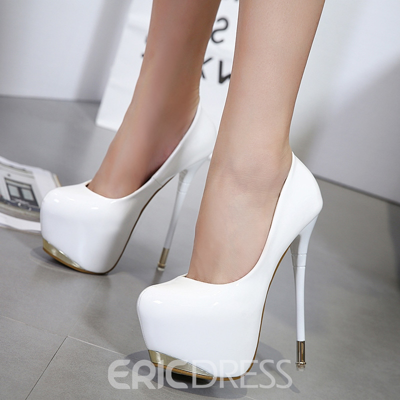 Ericdress Sexy Slip-On Platform Plain Stiletto Heel Shoes