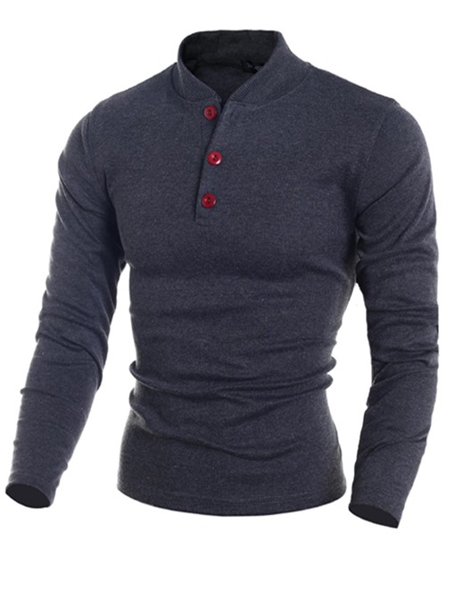 Ericdress Stand Collar Slim Men's Pullover Sweater