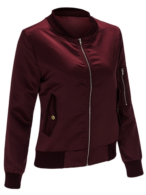 Ericdress Casual Solid Color Jacket