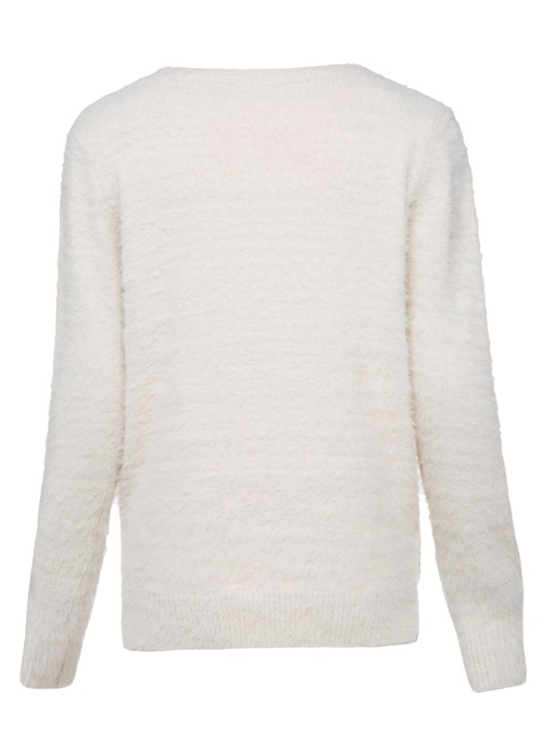 Ericdress Round Neck Plant Embroideried Sweater