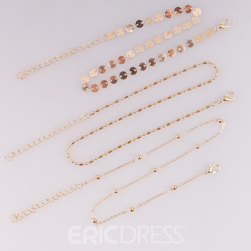 Ericdress Three Layer Paillette Charm Necklace