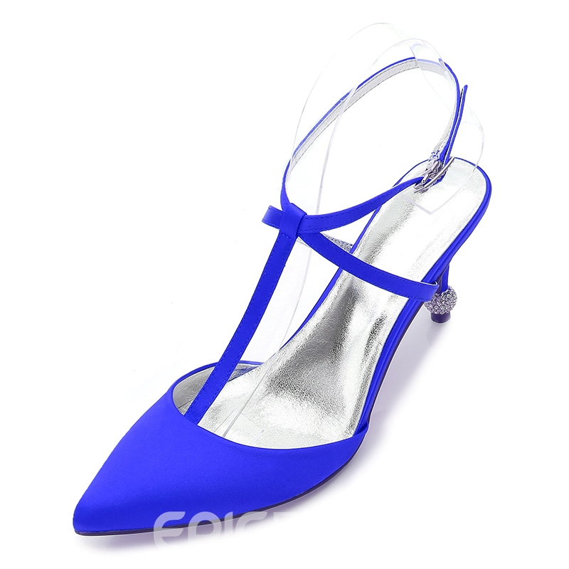 Ericdress Closed Toe Strappy Stiletto Heel Women's Wedding Shoes