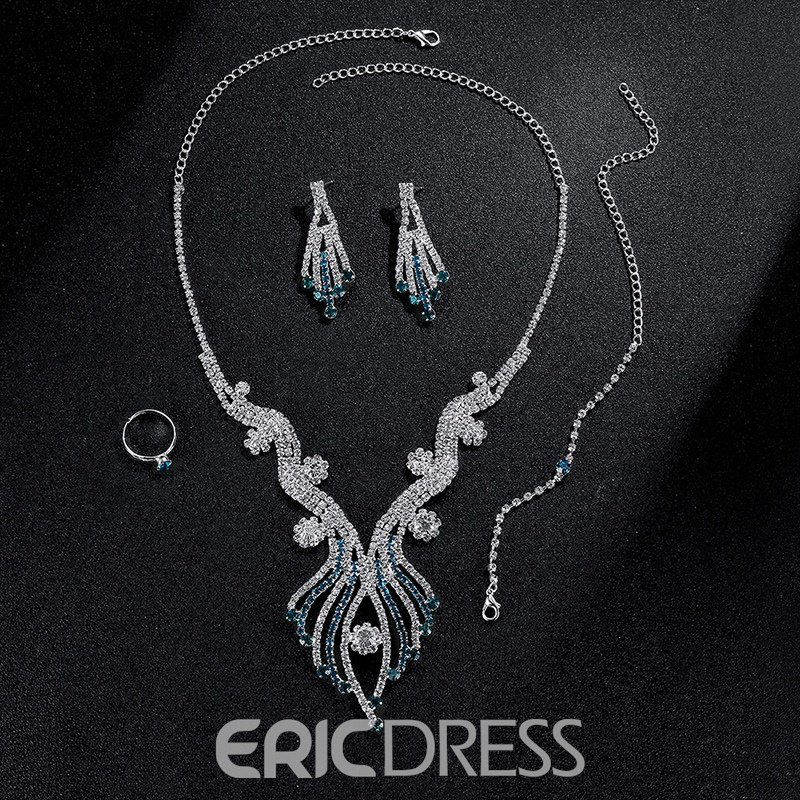 Ericdress High Quality Diamante Four Piece Women's Jewelry Sets