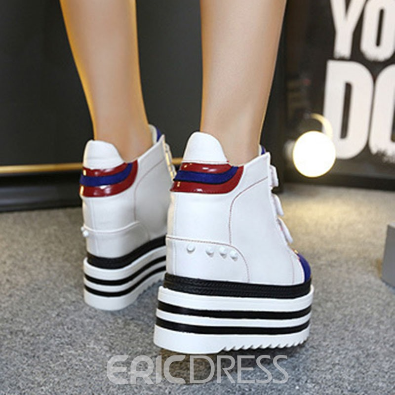 Ericdress Rivet Color Block Velcro Women's Sneakers