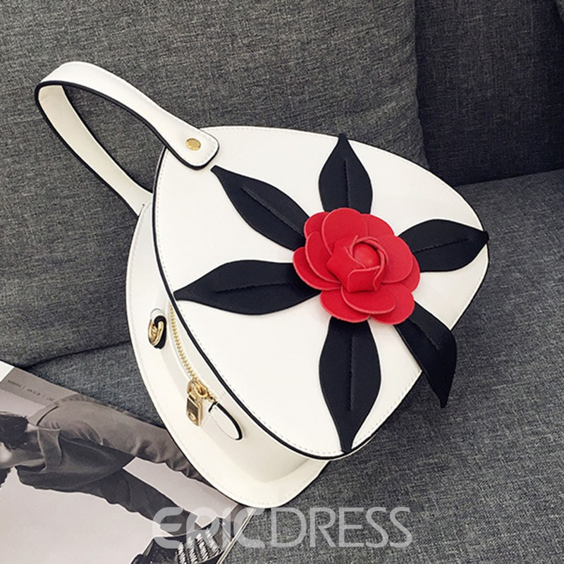 Ericdress Triangle Shape Flroal Pattern Crossbody Bag