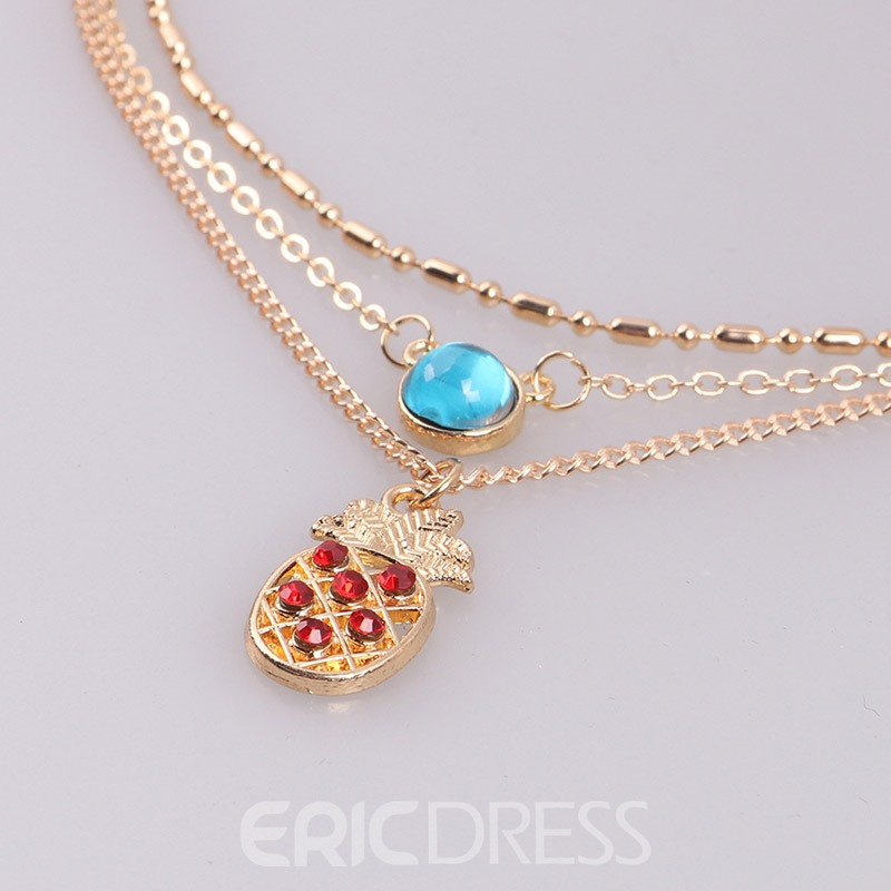 Ericdress Personal Exquisite Three-Layer Pendant Necklace