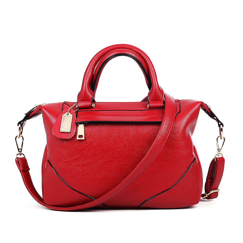 Ericdress All Match Solid Color Zipper Handbag