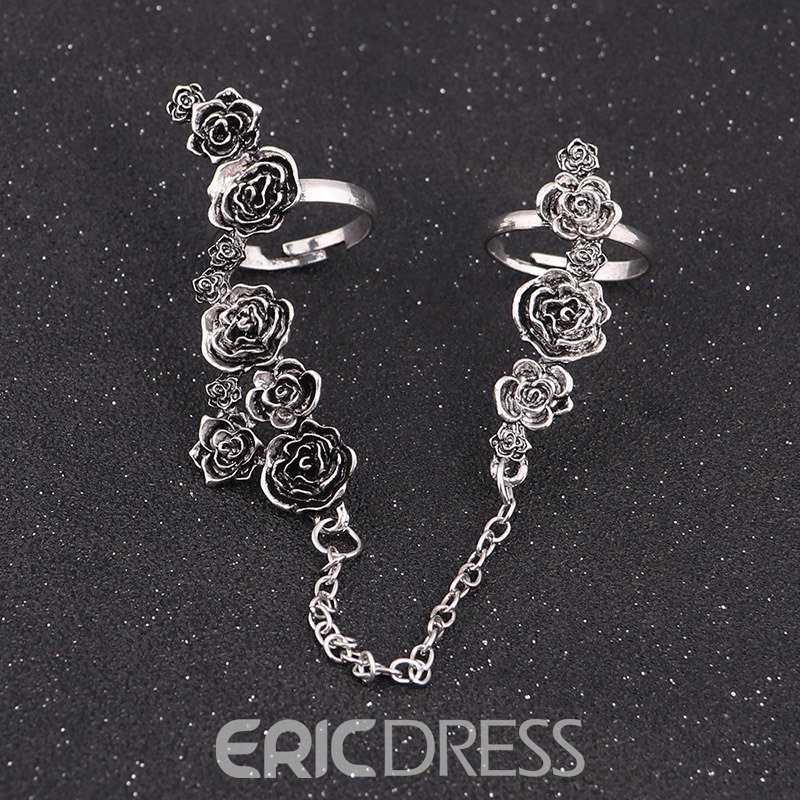 Ericdress Vintage Exquisite Rose Flower Ring for Women