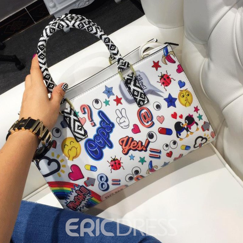 Ericdress Occident Style Vintage Printing Shoulder Bag