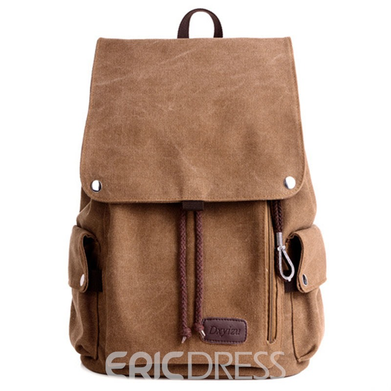 Ericdress Korean Style Casual Men's Canvas Backpack