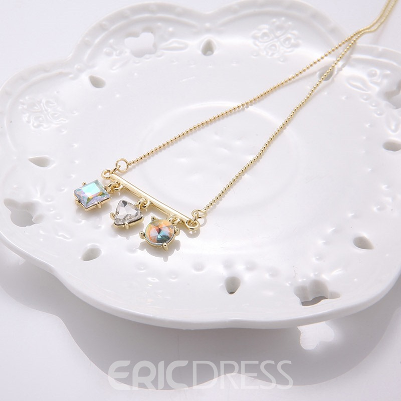 Accshine Hot Three Rhinestone Pendant Necklace for Women