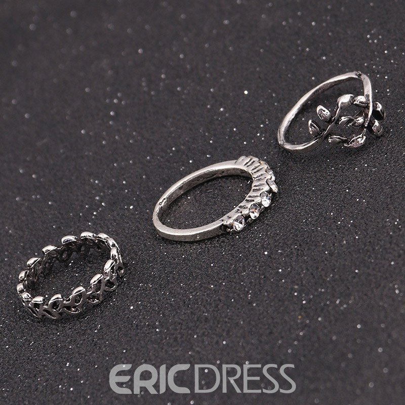 Ericdress New Style Diamante 5 Pieces Ring for Women