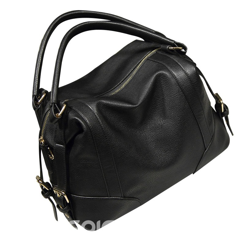 Ericdress Occident Style Solid Color PU Handbag