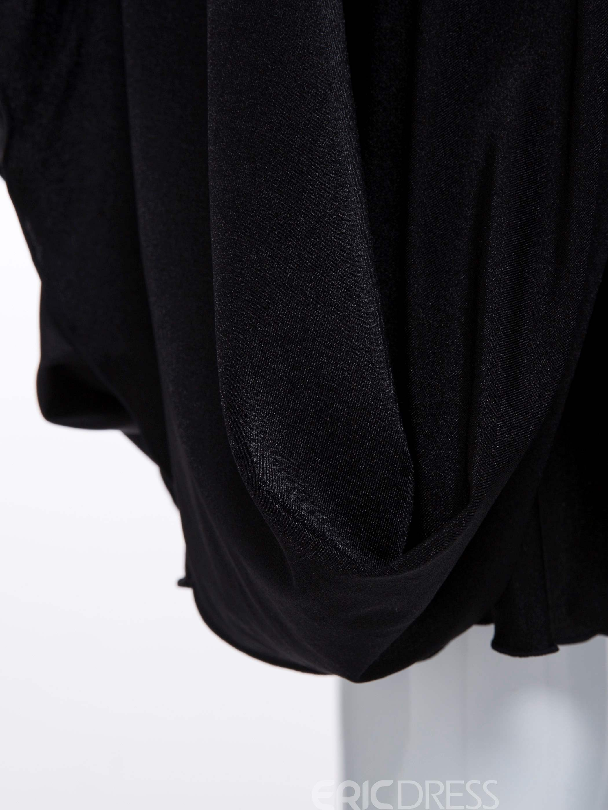 Ericdress Batwing Long Sleeve Little Black A Line Dress