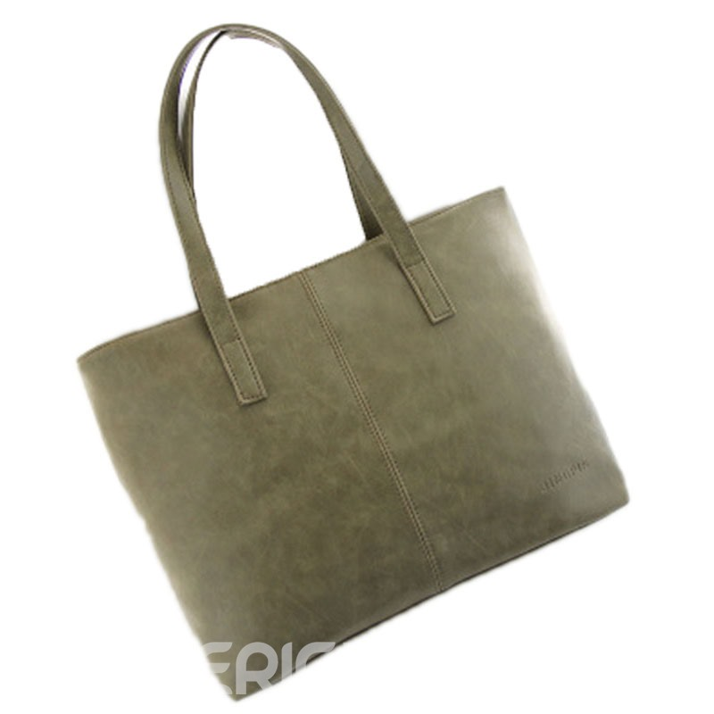 Ericdress Occident Style Simple Solid Color Handbag