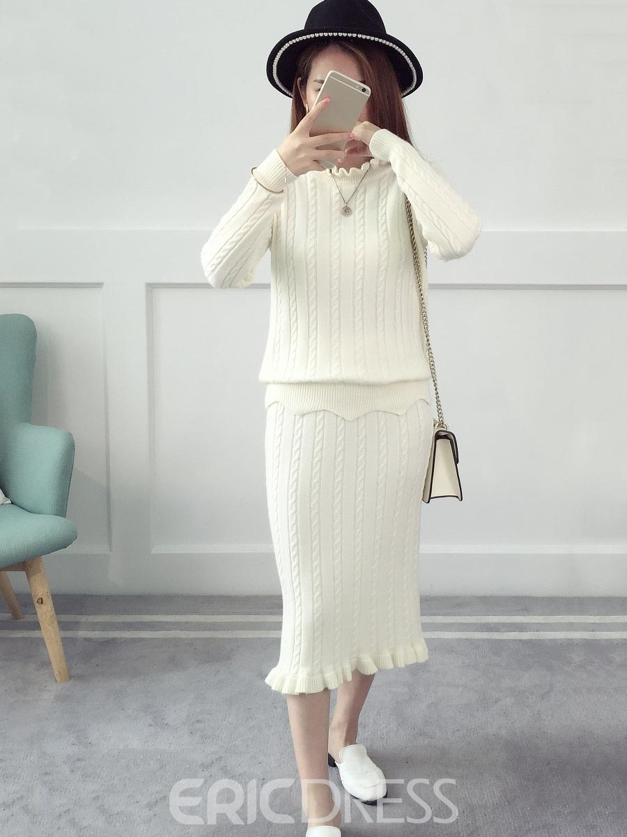 Ericdress Ruffles Long Sleeves Leisure Two Piece Set