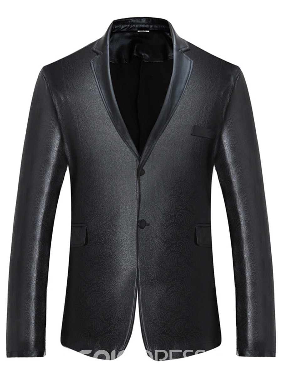 Ericdress Single-Breasted Plain Unique Men's Blazer