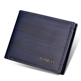 Ericdress Simplicity Solid Color PU Men's Wallet