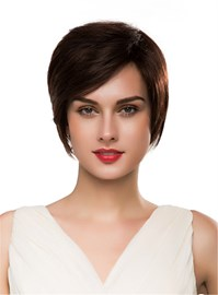 Ericdress Short Straight 100%Human Hair Capless Wig 10 Inches