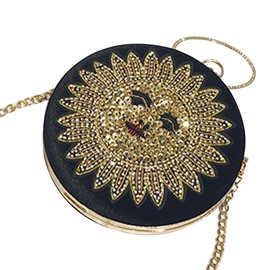Ericdress Dazzling Shining Sequins Circular Crossbody Bag