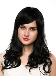 Ericdress Long Wavy Cut Human Hair Capless Wig 22 Inches