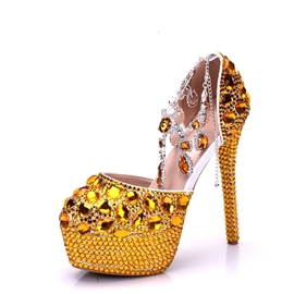 Ericdress Gorgeous Rhinestone Platform Stiletto Heel Wedding Shoes
