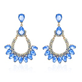 Ericdress Elegant Diamante Blue Fashion Earring