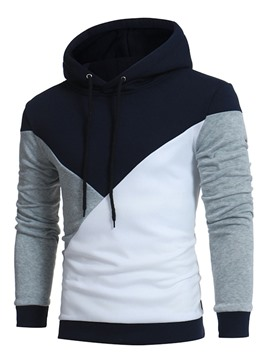 Ericdress Plus Size Casual Color Block Pullover Men's Hoodie
