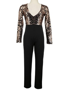Ericdress Sequins Long Sleeve Jumpsuits Pants