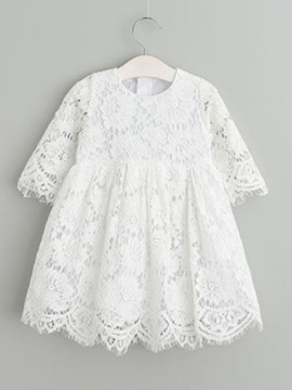 Ericdress Jewel A Line Lace Long Sleeves Baby Christening Gown